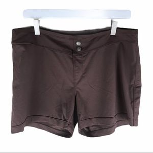 Athleta Dark Brown Vital Board Swim Shorts